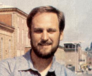 David on Main Street in Menard, 1986.