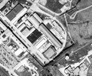 An aerial view of Menard Correctional Center.